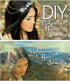 DIY Bohemian Hair Jewelry / http://www.lifeannstyle.com/diy-nicole-richiess-inspired-hair-jewelry/