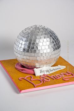 Seriously... what else screams party but a disco ball cake?
