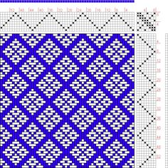Hand Weaving Draft: Feb 1952 No. 10, Master Weaver, 8S, 8T - Handweaving.net Hand Weaving and Draft Archive