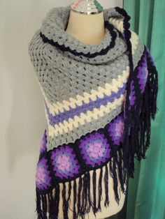 Crochet Shawl Violet Popularity by Namaoy on Etsy
