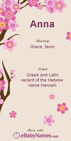 The origin & meaning of the name Anna
