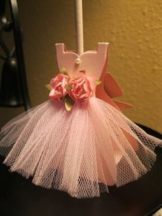Ballerina Lollipop Holder - Velma Iris Garza, Used Dress Framelits // dance party favor ballet nutcracker recital