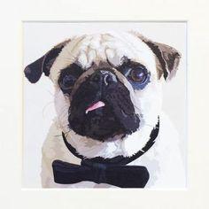 Dogs Life Pug Art - £19 | brandinteriors.co.uk