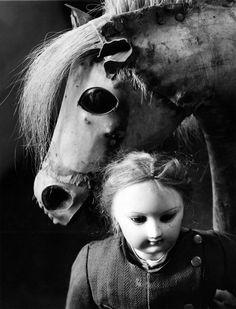 Paul Caponigro Doll and Hobby Horse, Boston, 1964