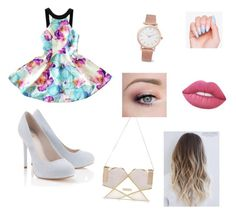 """""""Summer blue"""" by coudray-eve on Polyvore featuring Lipsy, Larsson & Jennings, River Island and Lime Crime"""