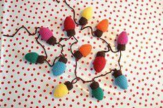 Christmas Lights Garland Free Crochet Pattern