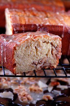 Brown Sugar Banana Pound Cake with Sugared Walnuts & Brown Sugar Glaze