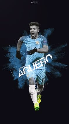 DESIGNDANIEL Sergio Kun Aguero edit / phone wallpaper by Design Daniel on tumblr. Football, Calcio, futbol, Manchester City, Man City FC.