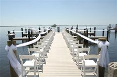 Okay so I have always wanted to have my wedding ceremony on a dock or in a golden wheat feild. I dont know how people would sit and stuff but this would be so awesome :)