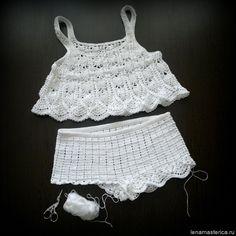 Débardeurs Au Crochet, Finger Crochet, Crochet Cover Up, Crochet Diagram, Cute Crochet, Crochet Stitches, Crochet Bikini, Crochet Patterns, Crochet Tank Tops