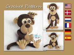 Amigurumi Pattern Monkey Animal Crochet Pattern CP-147