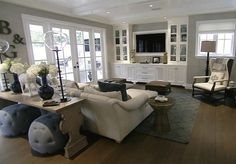 another pinner wrote: White built-ins and Hermes Avalon blanket