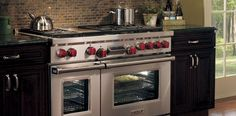 Cooking is my second passion (travel being my first).  This 6 burner stove with griddle and two ovens from Wolf would be most welcome in my kitchen.  Oh yes it would.  This is my top pin on my board:  PRODUCT