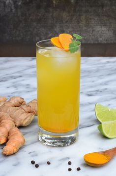 This bright new riff on the classic switchel features turmeric, which is a powerful anti-inflammatory and antiviral agent. I love sipping turmeric switchel after a workout, or using it as a cocktail mixer with fresh sugarcane spirits like cachaça and rhum Best Nutrition Food, Health And Nutrition, Nutrition Guide, Health Tips, Nutrition Websites, Nutrition Chart, Health Vitamins, Kombucha, Switchel Drink Recipe