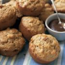 Try the Date-Apple Oat Bran Muffins Recipe on williams-sonoma.com/ {need: APF, oat bran, nonfat dry milk, small apple(, such as pippin, Granny Smith or Golden Delicious), pitted dates + 1-percent-fat milk}
