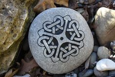 Engraved Celtic Knot Stone by wildhorseengraving on Etsy, $40.50