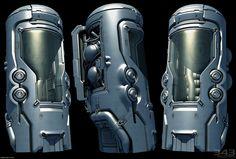 Master Chief's Cryo Chamber (Halo 4), Paul Pepera on ArtStation at https://www.artstation.com/artwork/Pqr