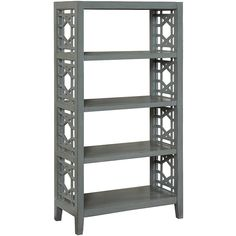Coast to Coast Smooth Joplin Bookcase ($400) ❤ liked on Polyvore featuring home, furniture, storage & shelves, bookcases, book display shelves, mdf bookcase, book shelves, coast to coast furniture and book case