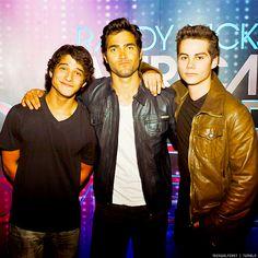 Teen Wolf, Stiles (Dylan O'Brien), Scott (Tyler Posey) and Derek (Tyler Hoechlin)