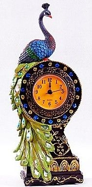 Peacock Table Clock, Southern Asia, polyresin / http://www.lightinthebox.com/fr/horloge-de-table-sud-asie-en-polyresine_p362692.html?pos=ultimately_
