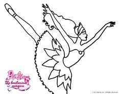 Dibujo de barbie en un saludo de agradecimiento para for Cuarto para colorear