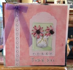 "Greeting Card (62) - 6""x6' makings 'Anitas Foiled Decoupage Kit' from docrafts"