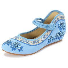 Zapatos del bordado de la flor del cordón para arriba Chineseknot Nacional Wind Flat