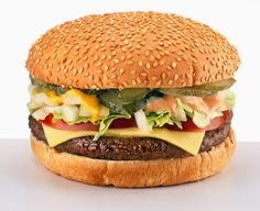 It's pretty hard to beat a steaming spread of dim sum, a charred Neapolitan pizza, or perfectly caramelized tarte tatin, but sometimes an all-American feast is Big Mac, Birthday Bbq, American Dishes, Sauces, Turkey Burgers, Good Burger, Dim Sum, Snack Recipes, Cheeseburgers