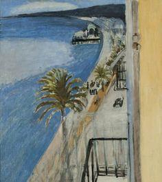 Matisse _ vue de l'hôtel BEAU RIVAGE Promenade des Anges à NICE