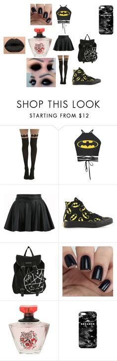 """Shout Out To batgirl8120 For Showing Some Love <3"" by lovelylunahemmings ❤ liked on Polyvore featuring Converse and Mr. Gugu & Miss Go"