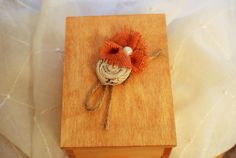 Wooden Trinket Box with Rustic Floral by SpoiledFelinesArt on Etsy