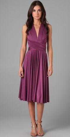 Twobirds Tea Length Convertible Dress