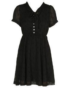 black pussy bow chiffon dress £16.95