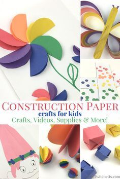 Construction Paper Crafts For Kids 3D Rainbow Art