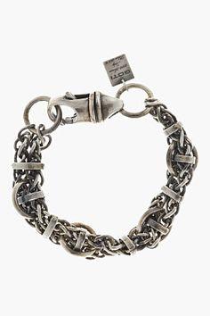 GOTI Silver Byzantine Chain Bracelet