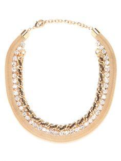 Bauble Bar dramatic iced gold link collar!
