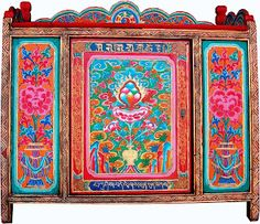 Furniture from Tibet. Gorgeous!