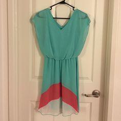 Light blue dress Design on back is same as front Dresses