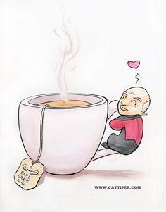 Tea. Earl Grey. Hot. Captain Picard. Star Trek Next Generation