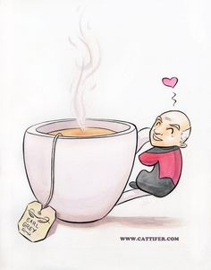 Tea. Earl Grey. Hot. Captain Picard. Star Trek Next Generation