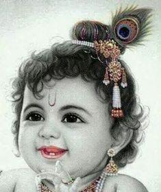 Beautiful Pictures of Baby Krishna Shree Krishna Wallpapers, Radha Krishna Wallpaper, Radha Krishna Images, Lord Krishna Images, Radha Krishna Love, Krishna Pictures, Krishna Photos, Bal Krishna Photo, Shiva Photos