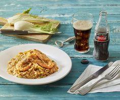 Κριθαρότο με γαρίδες Food Categories, Rice Dishes, Greek Recipes, Dessert Recipes, Desserts, Pasta, Sweets, Fish, Meals
