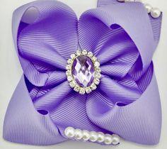 Diamond Ice Lilac Hair Bow