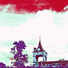 Posting some old photographic work while I'm in hospital to cheer myself up. Psychedelic Holland Park view