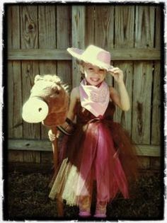 Giddy Up Cowgirl Costume 3T to 5T with accessories SALE. $39.95, via Etsy.