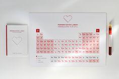 Periodic Table Of Love by Aljoša Lijić, via Behance