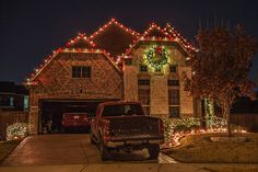 Red White Christmas Lights Dallas
