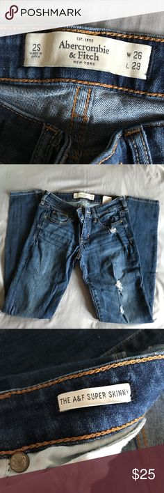 Abercrombie & Fitch Super Skinny Jeans Size 2S.    ⭐️⭐️⭐️⭐️⭐️ Rating 💯 Shop with confidence  📦 Ship same day / next day 🛍 Bundle & save ⛔️ trades ⛔️ lowball offers Abercrombie & Fitch Jeans Skinny