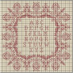 Cross stitch sampler - I keep coming back to this.  I really do like the lacy look.