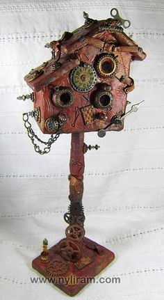 Steampunk Birdhouse - (by Marilyn Morrison)